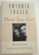 NEW     Must You Go? : My Life with Harold Pinter    Antonia Fraser    Hardcover