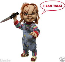 "Talking Chucky 15"" Child's Play MEZCO doll Figure Evil Scarred Version Toy"