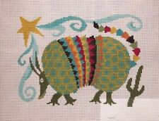 Susan Treglown Colorful SW Armadillo Handpainted Needlepoint Canvas 13 count