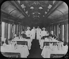 Glass Magic Lantern Slide CANADIAN PACIFIC RAILWAY DINING CAR HOLYROOD C1910 CPR
