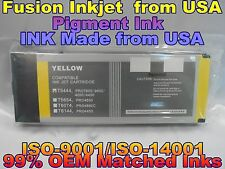 Epson Stylus Pro 4000 4400 7600 9600 Yellow Pigment ink Compatible 220ml T5444 j
