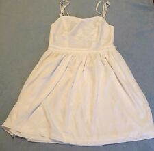Supre Size L/14 Cream Strappy Open Cross Back Mini Dress BNWT