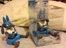 Lucario TOMY Tenohira Sitting Palm Figure Mint In Box RARE Pokemon Toy