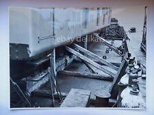 NAVE ship vecchia foto originale Pozzar Trieste  Lloyd Triestino treno  porto 4