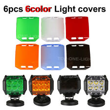"6X 6COLOR LED LIGHT LENS COVERS FOR 4""INCH 18W OFFROAD SUV  ATV WORK LIGHT LAMP"