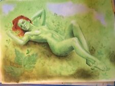 Poison Ivy Nude. Pin Up. Original Drawing.