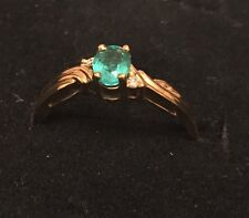 18ct Gold Emerald & Diamond Ring NEW RRP £750