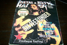 METAL HAMMER MAGAZINE 7/1999 six feet under metallica tastament therion