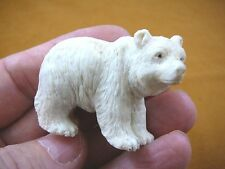 (bear-9) polar Grizzly bear of shed ANTLER figurine Bali detailed carving bears