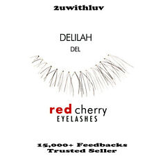 RED CHERRY 100% HUMAN HAIR BLACK FALSE EYE LASHES #DEL BRAND NEW