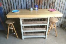 SALE! Rustic Wooden Freestanding Kitchen Island Breakfast Bar Dining Table SALE!