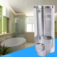 Wall Mount Kitchen Bathroom Single Head Soap Shampoo Dispenser with Lock 350ml