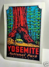 Yosemite National Park Vintage Style Travel Decal / Vinyl Sticker, Luggage Label