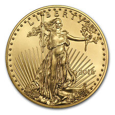 2016 1/2 oz Gold American Eagle BU - SKU #93744