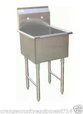NEW 18x18 Sink 1 Compartment Mop Stainless Steel NSF 1071 Commercial Restaurant