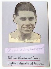 RAY WESTWOOD BOLTON WANDERERS & ENGLAND 1934 AUTOGRAPH