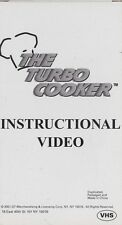 The Turbo Cooker VHS Video Tape 2001 Instructional Video Manual TURBO