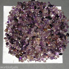 AMETHYST Chips A  Grade 5-15 mm semi-tumbled, 1/2 lb bulk stones quartz purple