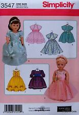 "Simplicity 3547 Sewing PATTERN for 18"" American Girl DOLL CLOTHES w/ 7 Dresses"