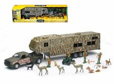 NEWRAY WILDLIFE HUNTER 1:32 FORD F-350 FIFTH WHEEL WITH CAMPER PLAY SET SS-10746