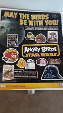 ANGRY BIRDS STAR WARS 17x22 POSTER NYCC COMIC CON 2013 MINT CONDITION!