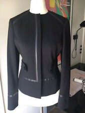 Gianni Versace Jacke schwarz DE 34 F36 IT 38 S TOP Jacket black wool Wolle Lana