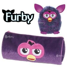 Official Furby Plush Barrel Pencil Case Stationery School Gift Toy