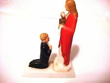 Vintage Boy's First Communion Cake Topper Plastic Hong Kong