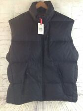 OLD NAVY DOWN Feather Puffer Vest Nylon Black Water Resistant XL New