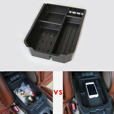 Black ABS Interior Armrest Storage Box Holder Fit For TOYOTA RAV4 2014 2015 2016