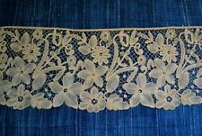 ANTIQUE HAND BRUSSELS LACE WIDE FLOUNCE