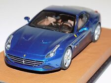 "1/43 Looksmart Ferrari California T in Blue ""Blu Ribot"" on Leather Base"