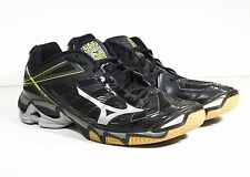 Mizuno Wave Lightning RX3 Mens Black/Silver Volleyball Shoes size 10.5 WORN ONCE