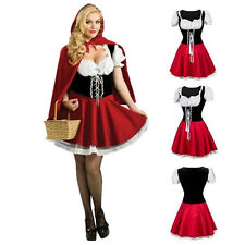 Little Red Ridding Hood Haloween Costume Fancy Dress Hens Party Outfit & Cape