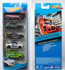 Hot Wheels 2014 POLICE PURSUIT 5 PACK HONDA CIVIC SI,'11 DODGE CHARGER R/T,NEW