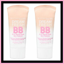 2 x Maybelline Dream Fresh BB 8-in-1 Beauty Balm Light/Medium Sheer Tint Free Po