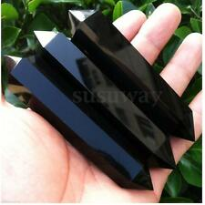 1PCS 90-120mm Natural Obsidian Crystal Gemstone Double Terminated Wand Healing