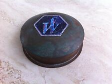 DECORATIVE SOLID COPPER ANTIQUE INK-WELL WITH THE WATERMAN PEN SEAL - NEW