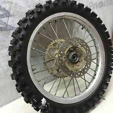 Honda CR125 96 rear wheel sprocket rotor hub pristine dunlop tire 100/90-19