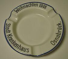 Fraureuther Porzellan Aschenbecher I Weltkrieg Osnabrück Weihnachten 1918
