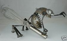 ABSTRACT MODERNIST METAL FIGURINE SPIDER,WHITCH,FROG OR ELSE,SIGNED