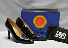 NEW Auth GIANNI VERSACE Patent Leather Pumps Heels Shoes Size 38.5