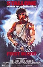 "FIRST BLOOD Movie Silk Fabric Poster 11""x17"" Stallone Rambo"