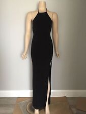 ZACHARY THE LABEL Black Cora Backless Long Dress S New With Tags