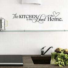 Black PVC Quote Kitchen + Home Mural Art DIY Decal Decor Removable Wall Sticker