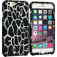 For Apple iPhone 6S (4.7) Hard Design Protective Case Cover Black Giraffe
