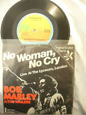 BOB MARLEY / WAILERS NO WOMAN NO CRY live lyceum london P/S