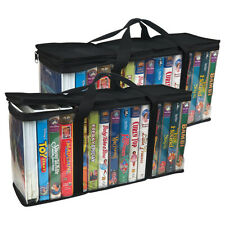 Evelots 2 Large VHS Storage Cases,Store 30 Tapes Total & Organize Your Videos