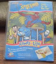 SPIDERMAN CHASE FOR THE BLUE TIGER Comes to Life Yes! Interactive Books MIP 1994