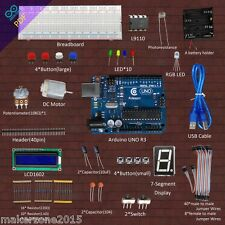 Adeept Starter Kit for Arduino UNO R3 Compatible LCD1602 Breadboad DC Motor LED